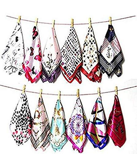 cooplay 5Mix Muster Seide fühlen Schal Square Hals Hand Hut tragen Geldbörse Schärpe Haar Schal Wrap DIY - zufällig Stil - Tragen, Seide Schals