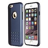 THE FLY SHOP - Cover per Iphone 6 plus, 6s plus / Doppia custodia in silicone flessibile nero rivestita da plastica rigida nera satinata