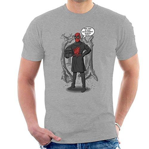 Deadpool Invincible Black Knight Men's T-Shirt Heather Grey