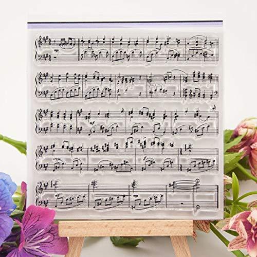 Musiknoten Symbol Transparent Clear Silikon Stempel für Siegel, DIY Scrapbooking Fotoalbum, Dekorative klare Stempel Bogen (Clear-stempel Cookie)
