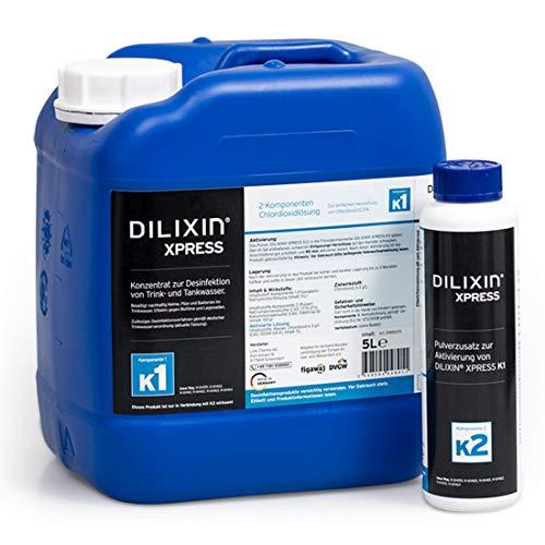 DILIXIN® Xpress 5 Liter, Legionellenbekämpfung, Desinfektion von Trinkwasser, Chlordioxid...