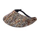 XFORE visière soleil'Sakima' casquette de golf sport tennis pour femmes avec motif tigre, taille unique