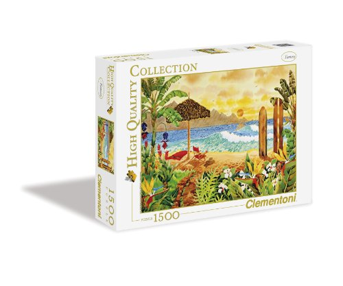 Clementoni 31993.0 - Puzzle High Quality Collection, Surfen auf den Inseln, 1500 Teile - High-land-insel