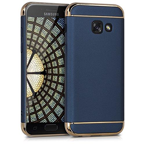 kwmobile Hülle passend für Samsung Galaxy A3 (2017) - [Hard] für Handy - Case mit Rand [Chrom] Chrom Hard Case