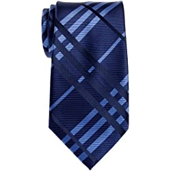 Retreez exquisito de cuadros escoceses Woven microfibra Hombre Corbata–Varios Colores Azul azul marino Talla única