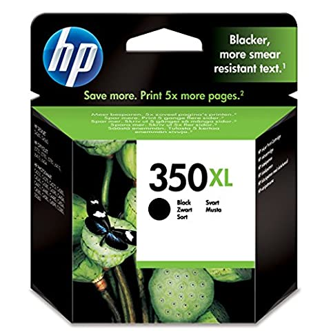HP 350XL High Yield Black Original Ink Cartridge (CB336EE)