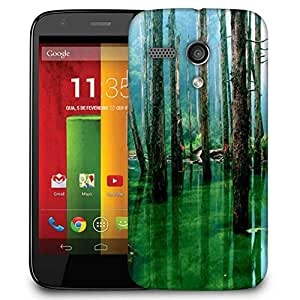 Snoogg Green Water Designer Protective Phone Back Case Cover For Motorola G / Moto G