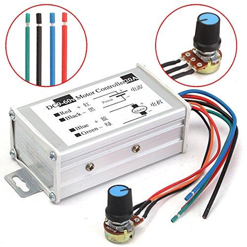 SPK603 12 V 24 V 20 A Max PWM DC Motor stufenlos Einstellbarer Geschwindigkeitsregler 25 kHz