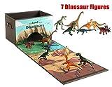 Cesto portaoggetti scatola giocattoli dei bambini contenitore pieghevole con 6 Dinosauri per vestiti giornali libri Dinosaur Toys Storage Box Playset