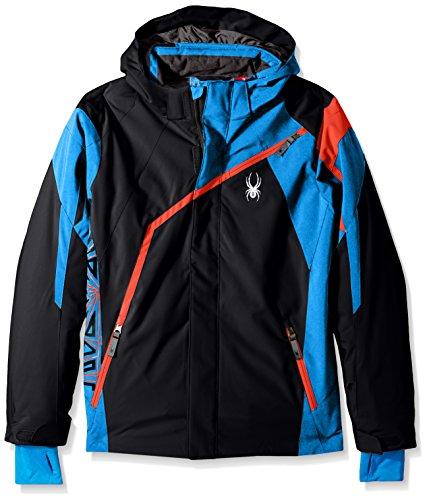 Spyder QUEST Boy's Challenger Jungen Ski Jacke schwarz/Blau, Gr. 152 (Spyder-jungen Jacke)