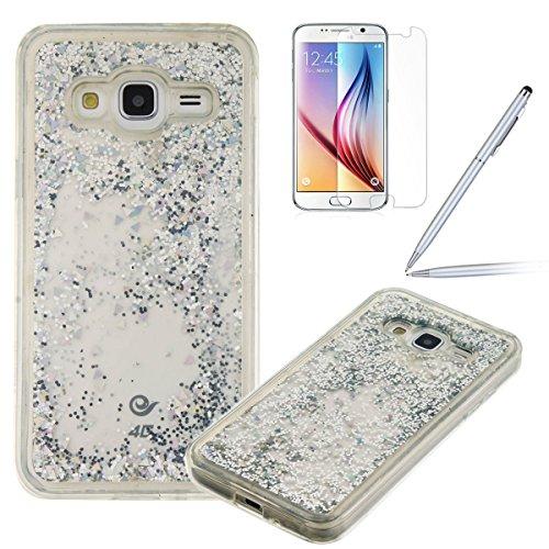 Felfy-Bling-Coque-pour-Samsung-Galaxy-J3-2016Galaxy-J3-Coque-Liquide-Bling-Etui-Samsung-J3-Plastique-TPU-Silicone-Gel-Soft-Coque-EtuiSamsung-Galaxy-J3-2016-Case-Transparent-Cover-tui-de-protection-Cri