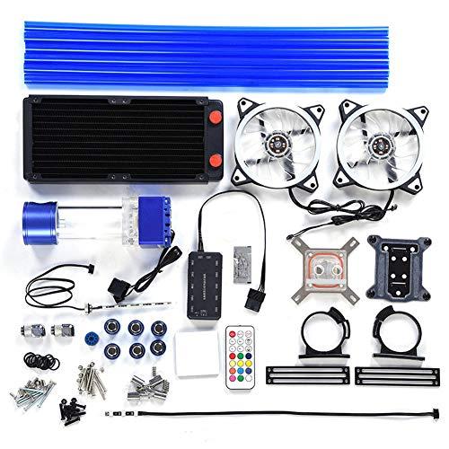 VBESTLIFE Sistema di Raffreddamento a Liquido per PC Set CPU Sistema di Raffreddato ad Acqua Kit di Raffreddamento a Liquido per PC Parti Liquido Freddo Radiatore(Set YG-371)