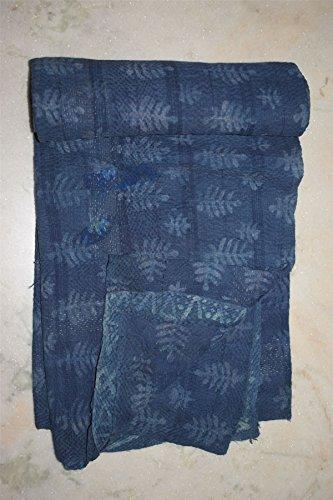 Tribal Asian Textiles Fait à la Main Vintage Housse de Matelas réversible Coton Kantha Patchwork Couverture
