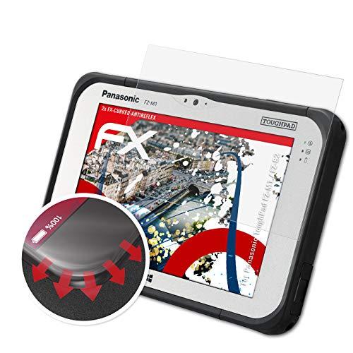 atFolix Schutzfolie passend für Panasonic ToughPad FZ-M1 / FZ-B2 Folie, entspiegelnde & Flexible FX Bildschirmschutzfolie (2X)
