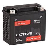 ECTIVE 12V 20Ah Gel Motorradbatterie YTX20L-BS : 5Ah - 21Ah (Absolut wartungsfrei)