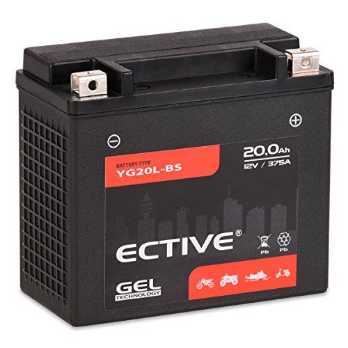 Preisvergleich Produktbild Accurat Motorradbatterie YTX20L-BS 20Ah 290A 12V Gel Technologie Starterbatterie in Erstausrüsterqualität zyklenfest sicher lagerfähig wartungsfrei