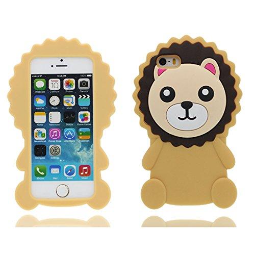 Custodia iPhone 5, iPhone 5s SE 5C 5G copertura case in Gel TPU Durevole flessibile morbido Cover Case - Rosa maiale Color 4