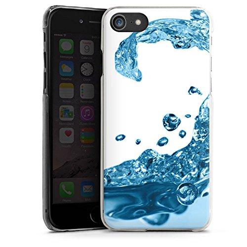 Apple iPhone X Silikon Hülle Case Schutzhülle Wasser Tropfen Welle Hard Case transparent