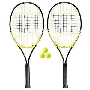 2 x Wilson Energy XL Tennis Rackets + 3 Tennis Balls Review 2018