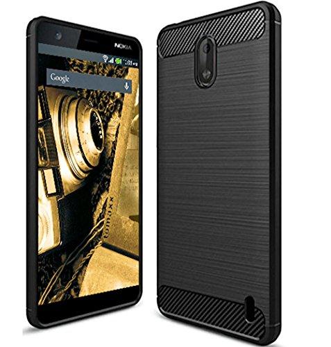 tomaxx Hülle für Nokia 1 Schutzhülle Tasche Carbon Hülle Schwarz