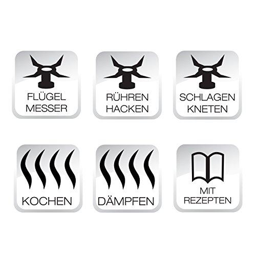 BEEM Thermostar MiXX und Cook, Multifunktionsgerät mit Kochfunktion inklusiv Kochbuch, Edition Eckart Witzigmann, Edelstahl/schwarz - 11