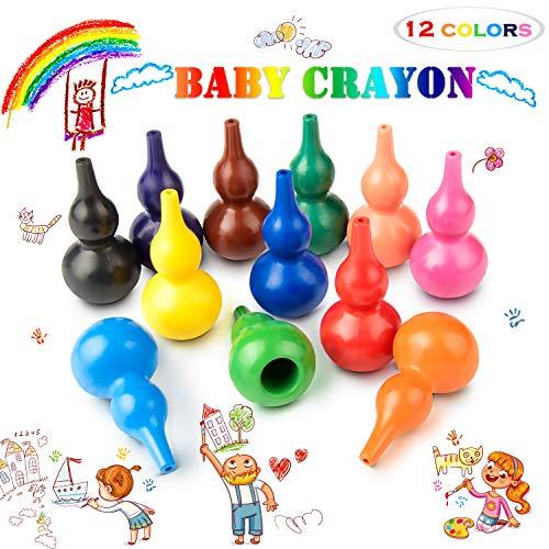 Keten Lápices de Colores para Niños, 12 Pinturas de Colores Infantiles, Lavables,...