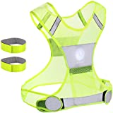 Reflective Vest Unisex with Pocket 2 Free 3M Safety Reflective Bands