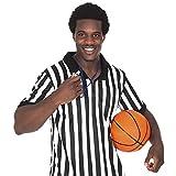 Crown Sporting Goods Herren Gestreift Offizielle Schiedsrichter/Schiedsrichter Jersey, schwarz/weiß