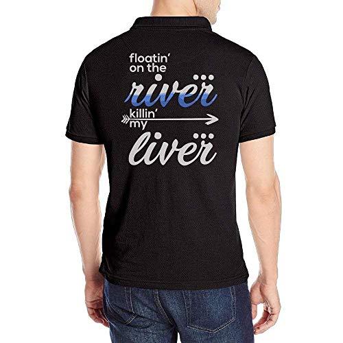 Mens Floating On The River Short Sleeves Polo T Shirt Izod-denim