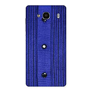 Delighted Royal Blue Sweat Print Back Case Cover for Redmi 2