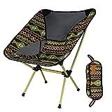KOSHSH Bunter Klappstuhlim Freienmond Stuhl Fischen Stuhl Direktor Chair Aluminium Stühle Ultra Light Portable,Indiancoffee