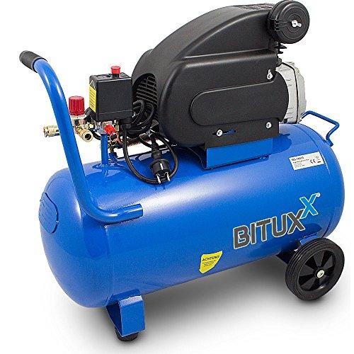 BITUXX® Kompressor Druckluftkompressor Druckluftverdichter 50Liter 2PS Druck bis 8 Bar