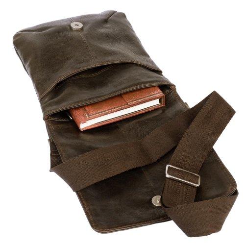 Kleine Umhängetasche Größe S / Handtasche aus Nappa-Leder, A5 Hochformat, Braun, Jahn-Tasche 418 Braun