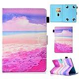 """Étui Tablette de 7"""", Coque Housse de Protection pour iPad Mini, Samsung Galaxy Tab A 7""""/ Tab 4 7/ Tab 3 Lite 7.0, Huawei MediaPad T3 7"""", Kobo Aura H2O Edition 2, Lenovo Tab 7 Essential, Mer Rose"""