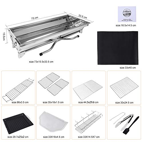 Zoom IMG-1 gifort barbecue carbone grill portatile