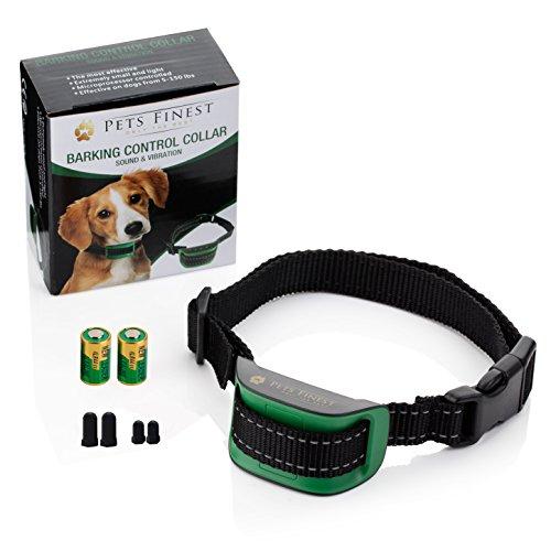 Anti-Bell Hundehalsband von Pets Finest, Erziehungshalsband mit Ton- & Vibrationsfunktion - 2