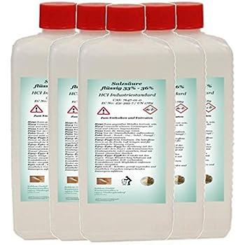 5793ddf9966 Acide chlorhydrique minimum 33 % article industriel 33-36 % HCL 5 l ...