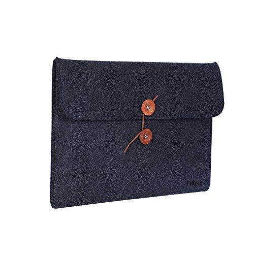 FHQSX 15.6 Zoll Wasserdicht Laptop-Tasche Filz Notebook Schutzhülle Schutztasche für Dell XPS, Dunkelgrau (Portable Pavillon)