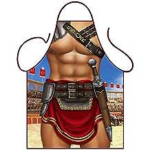 Iconic Aprons - Grembiule da cucina, sexy, da uomo, motivo: gladiatore