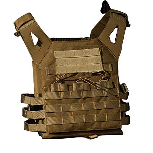 Taktische Weste, Paintball Battle MOLLE System Erweiterbar Outdoor Durable Schutz Army Combat Game Dschungel Outdoor Activity Camouflage