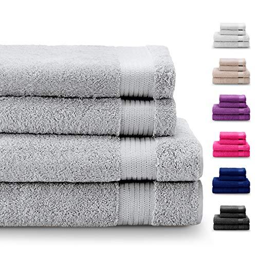 ¡Toallas de baño y toallas grandes de calidad para que tengas la sensación de estar en un hotel todos los días!Los juegos de toallas de baño y de toallas grandes Twinzen aportan la calidad de una toalla 100% algodón, suave, resistente y absorbente en...