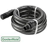 GardenMate® 4m Ansaugschlauch Ø 1 Zoll mit Rückschlagventil für Gartenpumpen