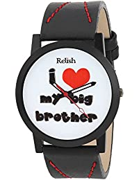 RELISH RE-S8082BB Black Slim Analog Watches For Boys And Mens