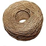 JUNGEN 100m Decoración Cordel Natural de Yute, DIY Artesanías de Embalaje Cuerda de Cáñamo