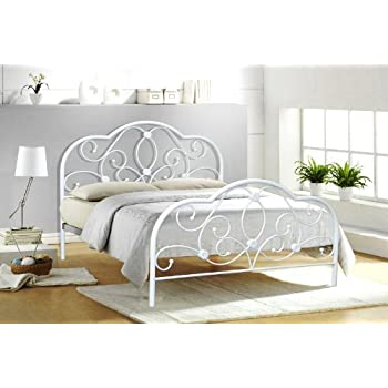 4FT6 DOUBLE WHITE METAL BED FRAME ALEXIS Amazoncouk Kitchen Home