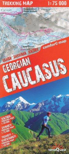 Géorgie Caucase trekking carte 1:50.000, laminé, imperméable à l'eau