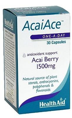 HealthAid AcaiAce Acai Berry 1500 mg - 30 Capsules by Healthaid