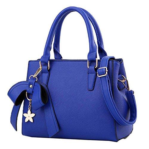 WU ZHI Damen-Umhängetasche Wild Diagonal Paket Handtasche Große Kapelle Handtasche Blue