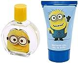 Minions Kosmetik-Tasche, Inhalt: 1x Eau de Toilette (50ml), 1x 2in1 Duschgel & Shampoo (100ml)