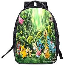 Unisex Pokemon Anime Cartoon School Bag para Reducir la Carga de la Mochila Infantil Mochila Escolar